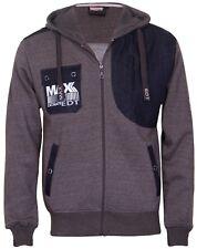 Max edition Full Zip fleece Hoodie Top  MSW14 Charcoal