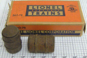 Lionel 362-78B Set of 6 Stained Barrels in Separate Sale Box
