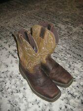 Justin Amarillo Cactus EH Steel Square Toe Pull Western Work Boot WK4313 SZ8.5