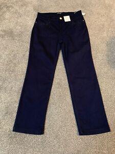 Per Una Roma Rise Indigo Straight Jeans Size 14 XS Bnwt Free Sameday Postage