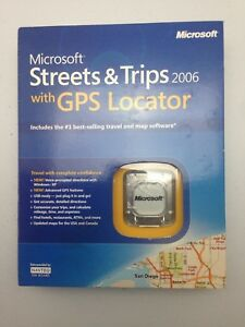 Microsoft Streets and Trips Maps with GPS locator 2006