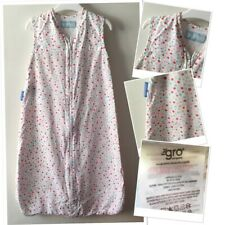 Offical Growbag Baby Girls Spotted Summer Grow Bag Sleep bag 0-6 Months 0.5 tog