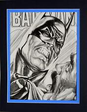 BATMAN COMICS SKETCH COVER PRINT Professionally Matted Ross art Angry Batman