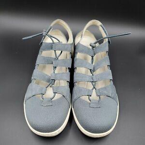 Dansko Women's Comfort Shoes Slate Suede Riona Adjustable 4427-870300 SZ 42/11.5