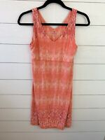 Athleta Sleeveless Orange Pink Floral Dress NWOT Size Medium