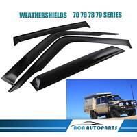 Weather Shields Window Visors for Toyota Landcruiser 70 76 78 79 Series Ute 4pcs