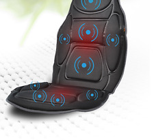 Car Seat Neck Back Massage Soft Black Mat Relax Heated Vibration Chair Medivon