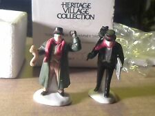 Dept 56 Town Crier and Chimney Sweep 2pc Heritage Village In Original Box