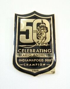 Celebrating Mario Andretti 50th Anniversary Indianapolis 500 Champion 1969 Pin