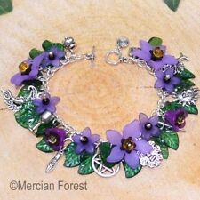Wiccan Charm Bracelet Belladonna- Pagan Jewellery, Wiccan, Witch, Pagan Bracelet