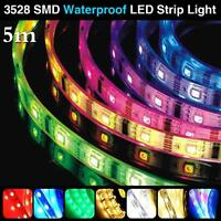5M RGB 3528 SMD 300 LEDS COOL/WARM WHITE WATERPROOF LED STRIP LIGHT COLORFUL