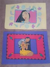 2 Vintage Disney Pocahontas Flit Bird Meeko Raccoon PillowCases Bedding 1990's