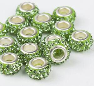 50pcs DIY Czech Clay crystal Shambala Charm Beads Fit European Bracelet beaded