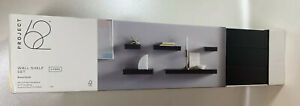 Project 62 Black Modern Floating Wall Shelf Set - 5 Pieces