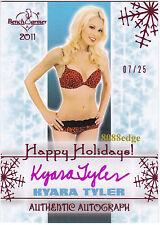 2011 BENCHWARMER HOLIDAY AUTO: KYARA TYLER #7/25 PINK AUTOGRAPH NEW YEAR SET