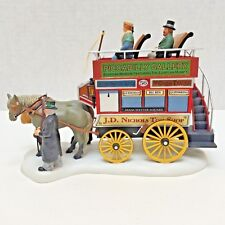Dept 56 Omnibus Wagon Table Accent Signed 2002 Holiday Dickens Village