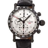 New Chronoswiss Timemaster Chronograph GMT DLC Auto Mens Watch CH-7535-GST-SI1