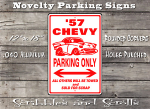 57 Chevy Parking Street Sign, Hot Rod, Mancave, Garage, Kids Room, Bar, Car