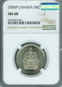 2005-P CANADA 50 CENTS NGC MS69 PQ MAC FINEST GRADED MAC SPOTLESS DEAL