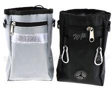 Pet Dog Puppy Training Treat Obedience Feed Bait Snack Belt Pouch Bag Grey/Black