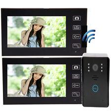 "7"" Video Door Intercom Doorbell Home Security 1-Camera 2-Monitor Night Vision"