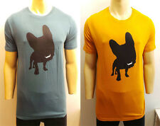 WHOLESALE JOBLOT OF 10 MENS BECKETT BECKETT DOG T-SHIRTS BLUE & YELLOW