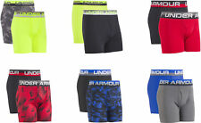 New 2 Pk Under Armour Big Boys' Boxerjock Performance Boxer Brief Youth Assorted