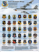 B-47 Stratojet Wings Educational Science Airplanes Classroom Chart Poster 18x24