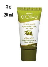 3x MiniDalan d'Olive Hand & Körper Feuchtigkeitscreme-normale/trockene Haut-20ml