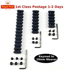 Tactical Polymer 20mm Weaver Picatinny Dovetail Rail Set For Keymod Handguard UK