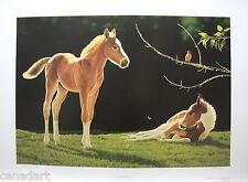 """Glenn OLSON """"Springtime in Alberta"""" Mint LTD art print Certificate COA horse"""
