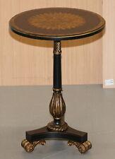 MAITLAND-SMITH EBSONISED SUNBURST SIDE LAMP END WINE TABLE STUNNING BLACK GOLD