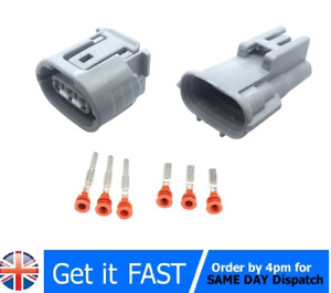 3 Pin For Sumitomo 090 TS Alternator  Plug Connector Electrical For Toyota Lexus