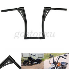"1-1/4"" King Apes Ape Hanger 16"" Motorcycle Handlebars 1"" Bar Black For Harley"