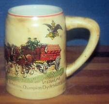 Budweiser 1980 RED CASES 1st HOLIDAY Stein CS19!! Eight Horse Team & Wagon