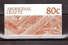 AUSTRALIA 1987 Aboriginal Crafts 80c booklet MUH