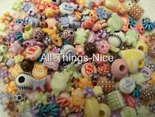 RESIN BEADS MIX 6-13mm Spacer Jewellery Making Findings Art Craft WHOLESALE 250
