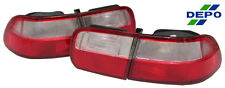 92-95 Civic 2D 4D DR JDM Red Clear Tail Light CPE SEDAN