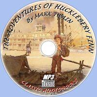 Huckleberry Finn Mark Twain, klassisches Hörbuch MP3 CD ungekürzte Englisch NEU