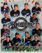 "AUTOGRAPHED  8"" x 10"" COLOR PHOTO COLLAGE OF 12 MILWAUKEE BREWERS  DATED 2011"