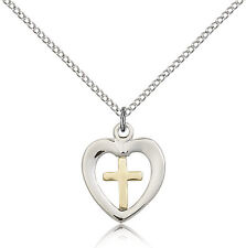 "Gold Filled Cross Necklace For Women On 18"" Chain - 30 Day Money Back Guarantee"