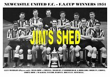 NEWCASTLE UNITED F.C.TEAM PRINT 1951 - F.A.CUP WINNERS