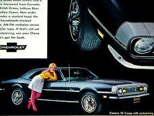 1968 CHEVY CAMARO SS ORIGINAL AD *RS/327/350/396 engine/wheels/windshield/bumper
