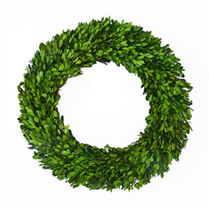 Boxwood Wreath 17 inch Preserved Nature Boxwood Wreath Home Decor Stay Fresh for