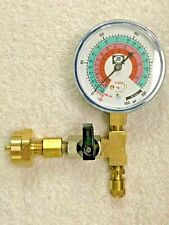 Frosty Freeze, 20 oz. Can Taper, R404a, Cga600-R404a, With On/Off Valve & Gauge