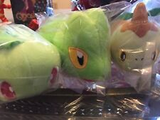 Pokemon Kororin rolling friends Chikorita, Treecko, Turtwig Banpresto Plush Tsum
