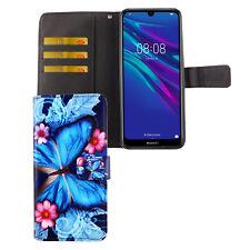 Huawei Y6 2019 Hülle Case Handy Cover Schutz Tasche Flip Schutzhülle Wallet Blau
