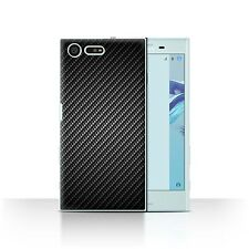 STUFF4 Case/Cover for Sony Xperia X Compact/Carbon Fibre Effect/Pattern/Grey