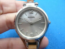 New Old Stock 32MM FOSSIL ES3060 Leather Strap Quartz Women Lady Watch