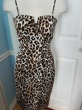 Spaghetti Strap Leopard Print Dress